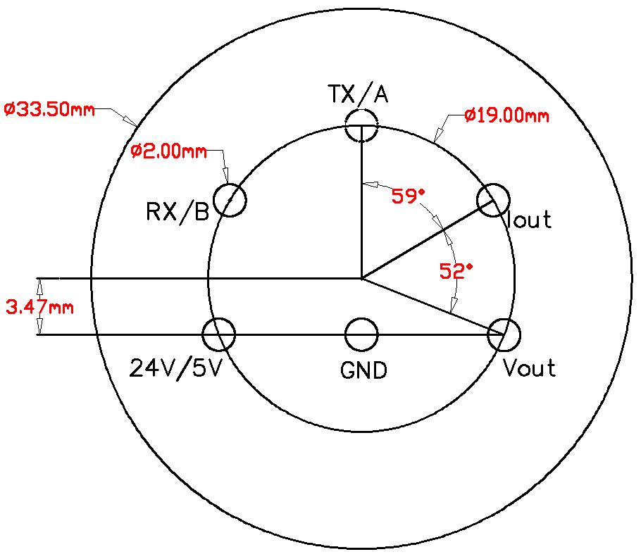 ASXX-4传感器模块引脚定位尺寸